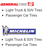Tire brands image